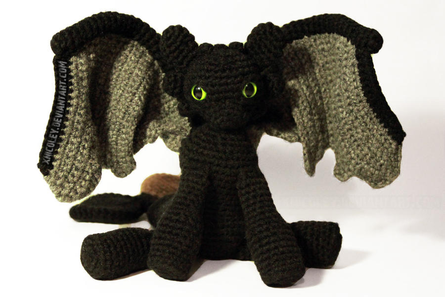 Free Crochet Pattern For Toothless The Dragon : Toothless Plushie by xnicoley on DeviantArt