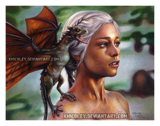 Daenerys in Colored Pencil by xnicoley