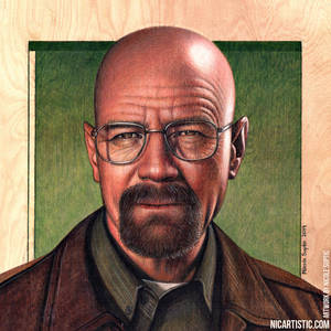 Walter White Colored Pencil Drawing - Breaking Bad