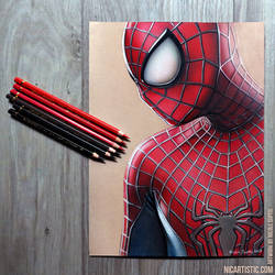 Spider-Man Colored Pencil Drawing