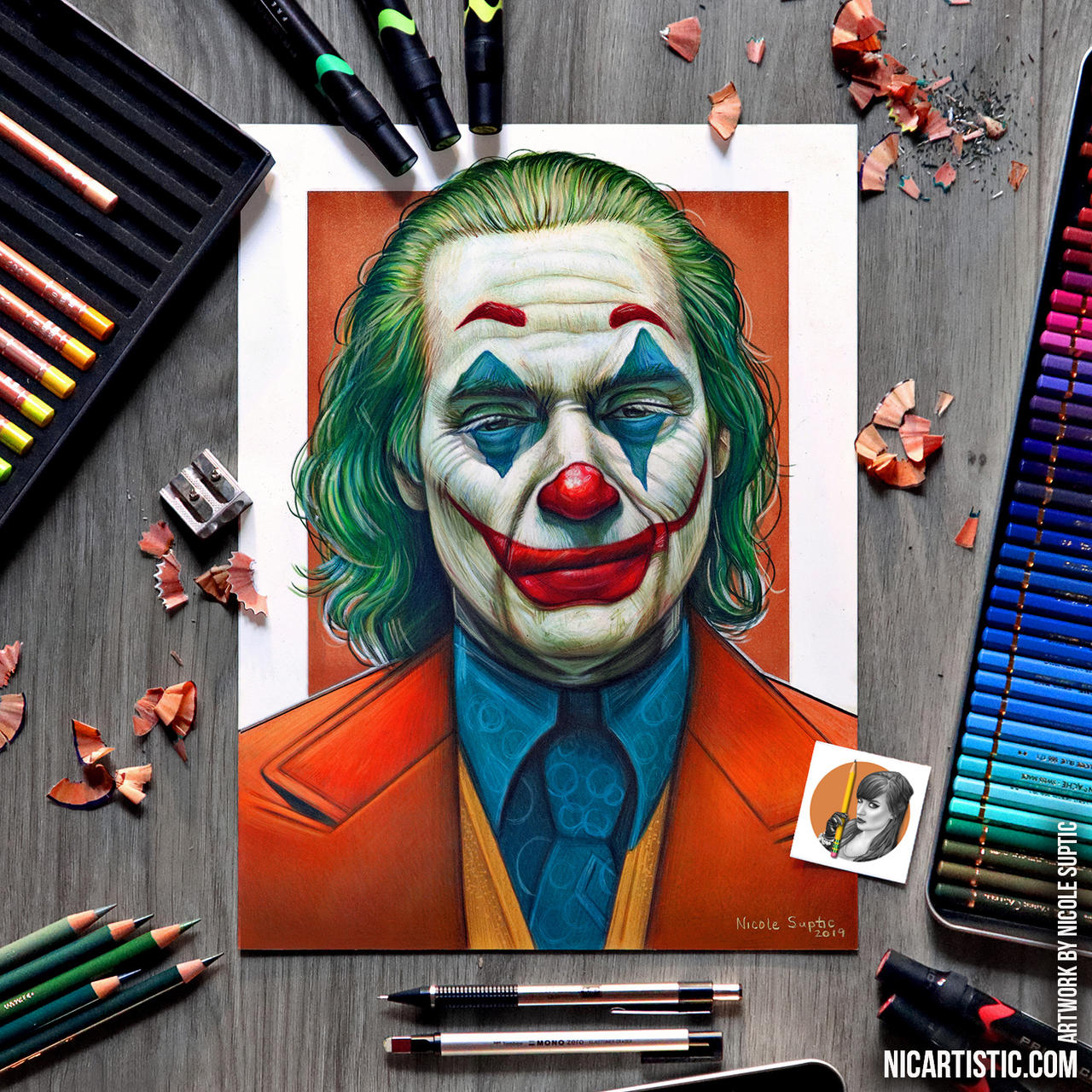 Joker Drawing Using Colored Pencils And Markers By Xnicoley On Deviantart