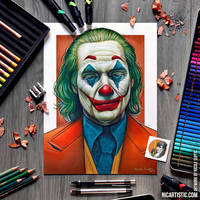 JOKER DRAWING using Colored Pencils and Markers