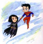 Batgirl and Superboy