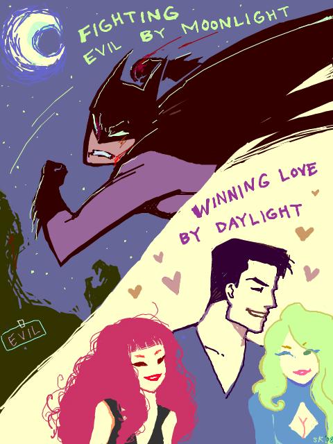 Fighting Evil by Moonlight... by d00li