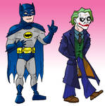 Adam West catches Heath Ledger
