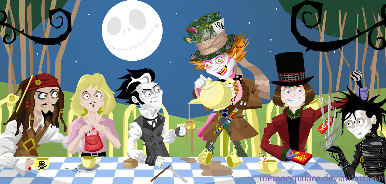 The Depp Hatter's Tea Party by memorypalace