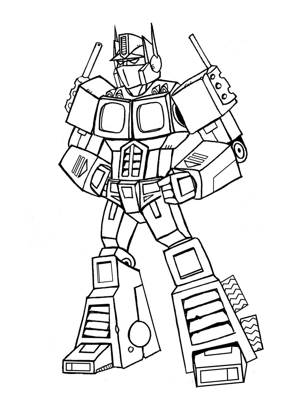 Optimus Prime Lines By Memorypalace On Deviantart Optimus Prime Coloring Pages