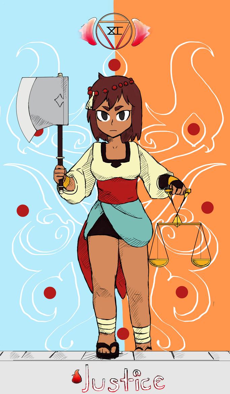 Justice Tarot - Indivisble Fan Art by Otakumi