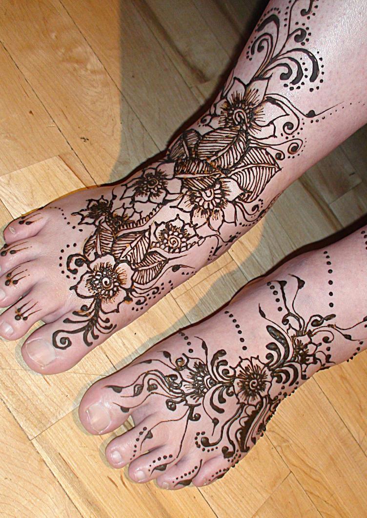 Bridal Mehndi Vancouver Bc : Bridal henna feet by hennarung on deviantart