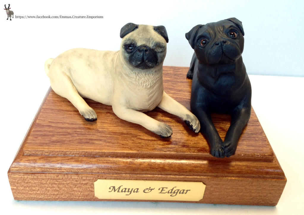 Maya and Edgar Pewdiepie Pug dogs main on base by ELS88 on ...