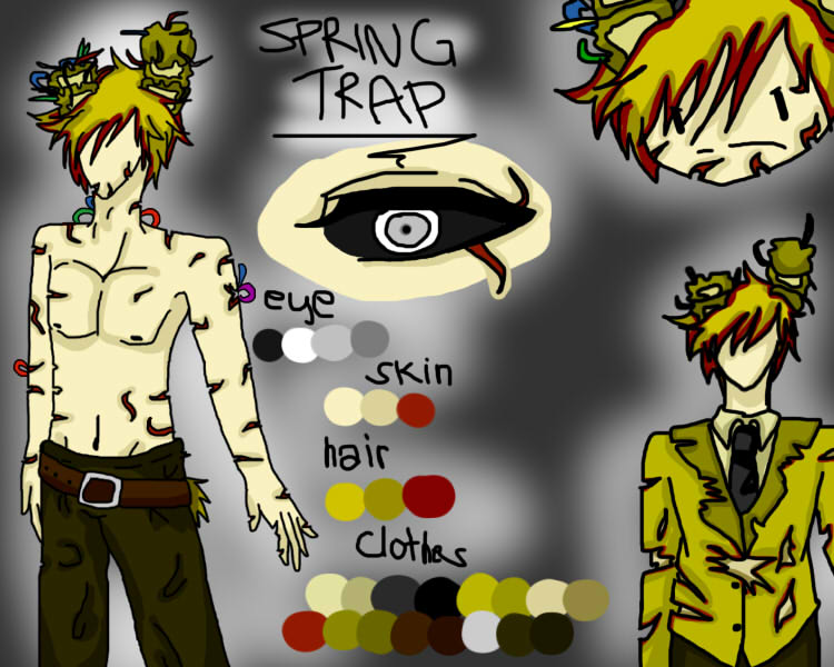 Springtrap Human Android Anime Version By Yaoiismybet On