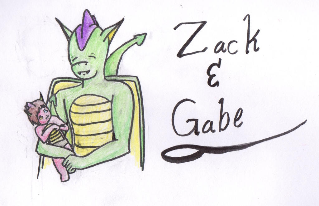 Zack and Gabe by Ahtilak