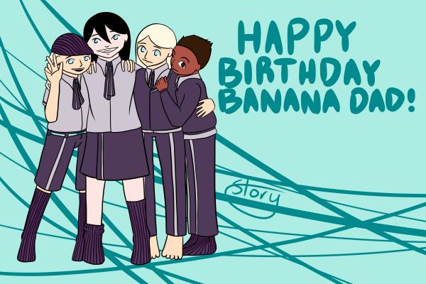 Happy Birthday Banana by Ahtilak