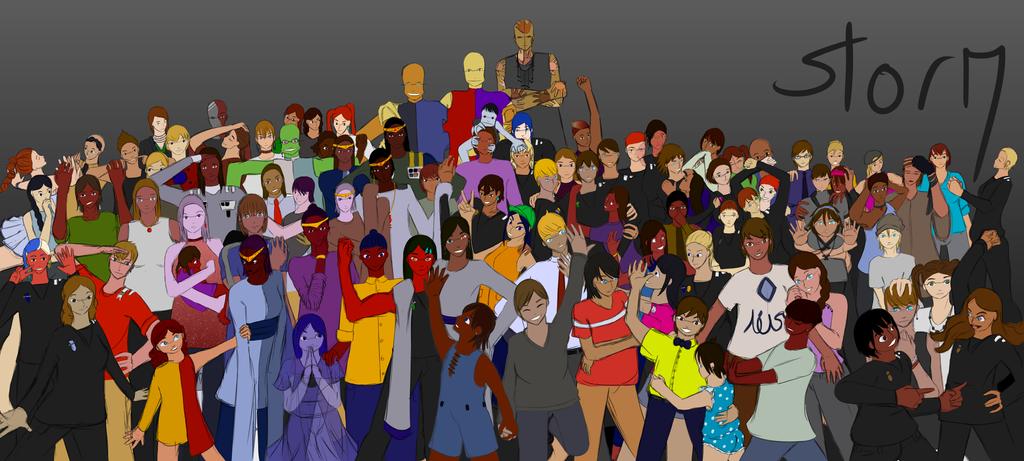 92 of my Original Characters by Ahtilak