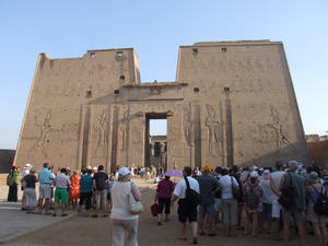 Pylons at Edfu Temple
