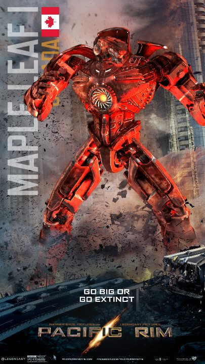 Pacific Rim Jaeger Poster-Maple Leaf I (Canada) by ... Pacific Rim Jaeger Posters