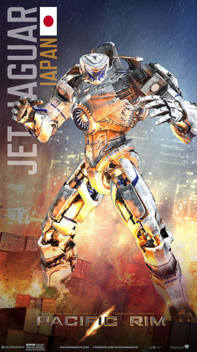 Pacific Rim Jaeger Poster-Jet Jaguar (Japan) II by Neville6000