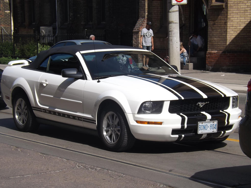 The White Mustang On Dundas Street by Neville6000