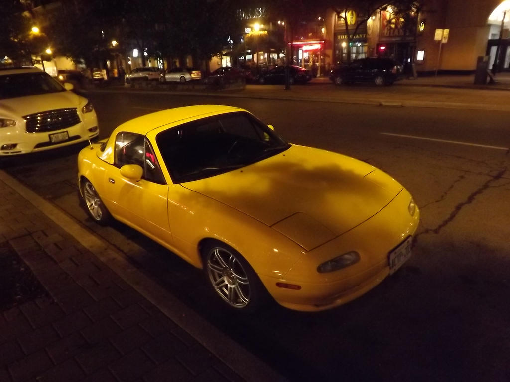 The Yellow Miata On Front Street by Neville6000