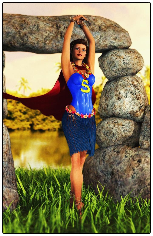 Supergirl's Hula Dress by Neville6000