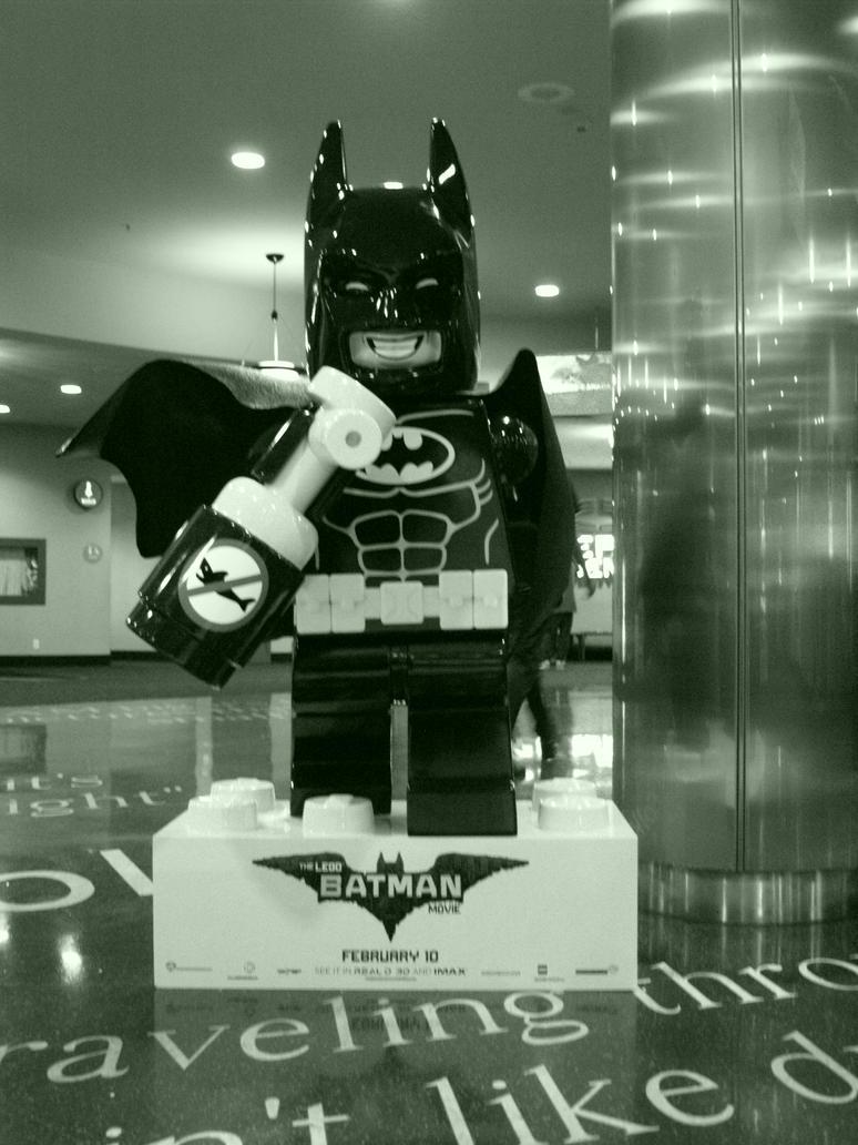 LEGO Batman (Black + White) by Neville6000