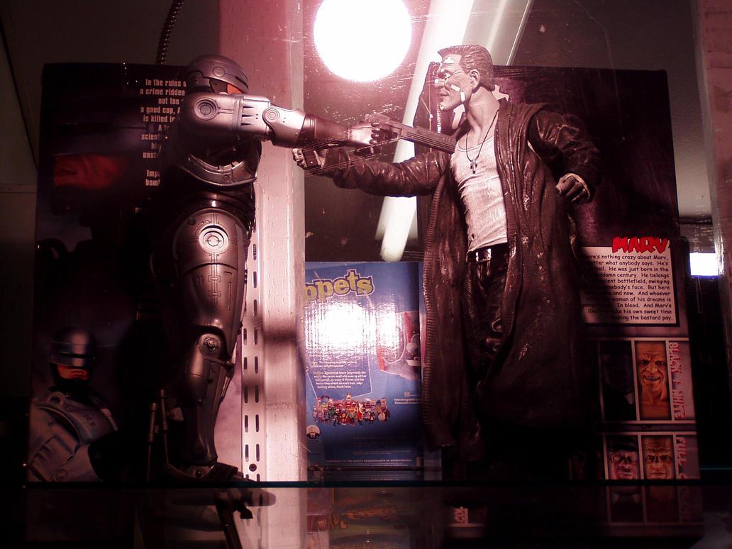 RoboCop vs. Marv by Neville6000