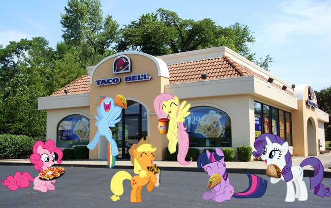 Ponies Invade Taco Bell by dontae98
