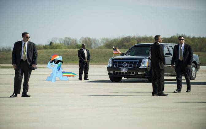 Rainbow Dash in the Secret Service by dontae98
