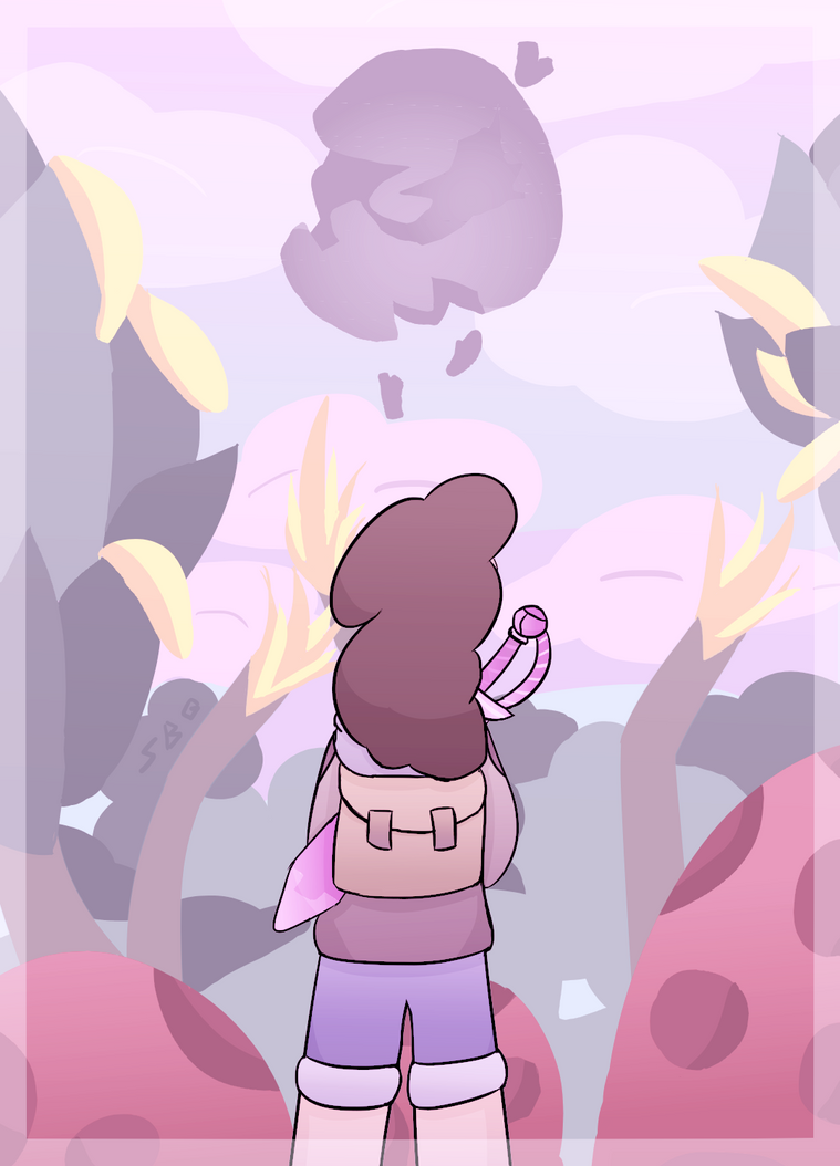 Sorry its so rushed I just got tired of drawing so I ditched most of the shading and stuff - I tried to add more pinks to fit the Steven Universe theme. But anyways the Jungle Moon episode just cam...