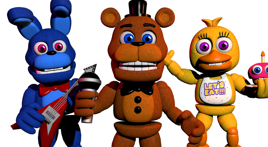Imagen: Broken Freddy,Bonnie,Chica and Foxy by