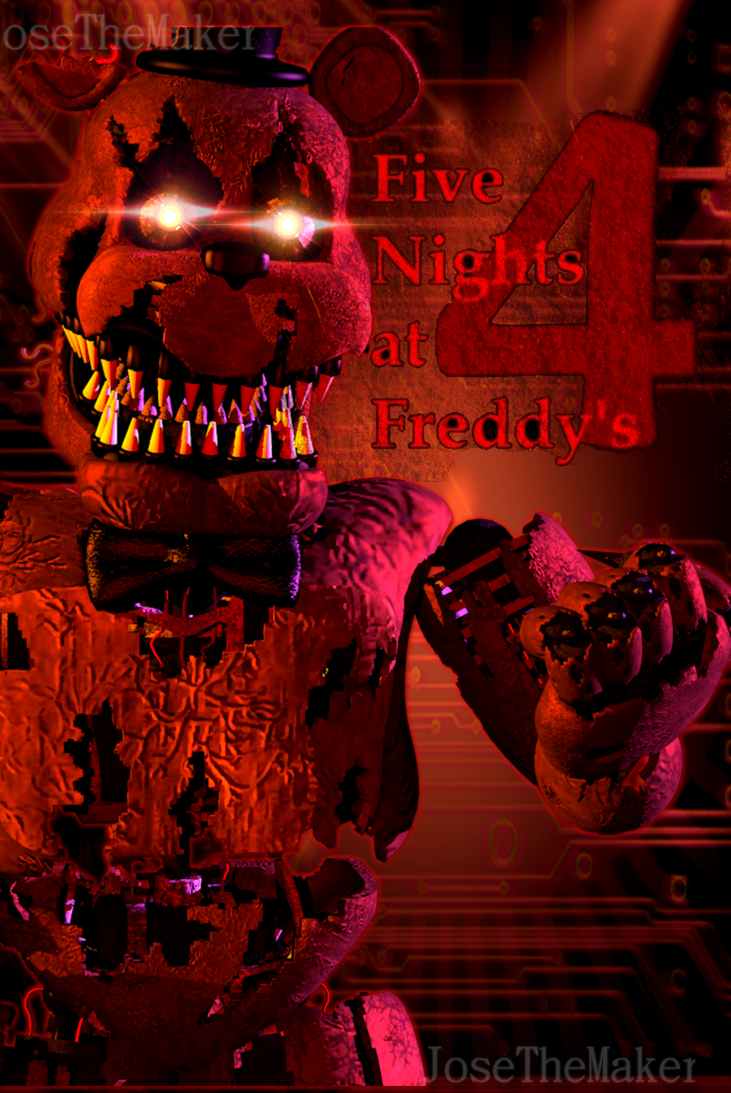 FNAF 4 Nightmare Freddy poster by E_A Remake by JoseTheMaker on