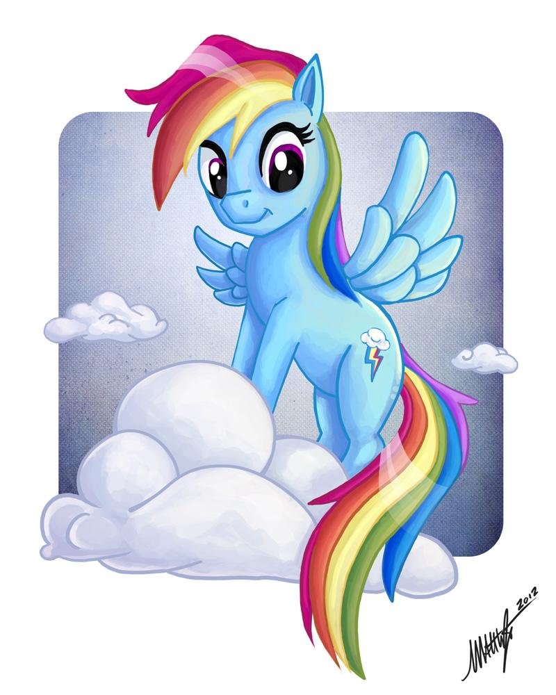 Rainbow Dash by WaffleJuey
