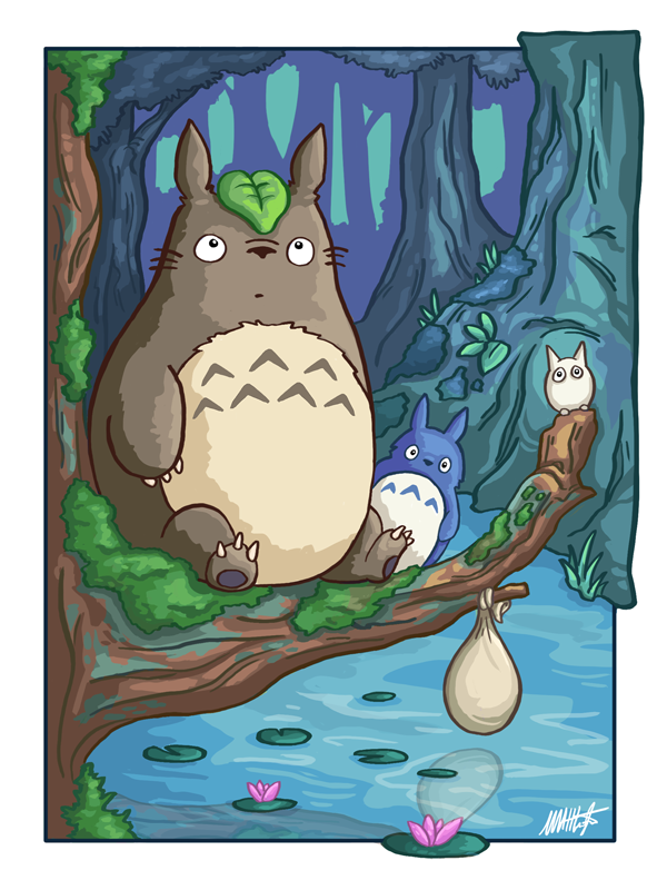 My Neighbor Totoro - FanArt by WaffleJuey