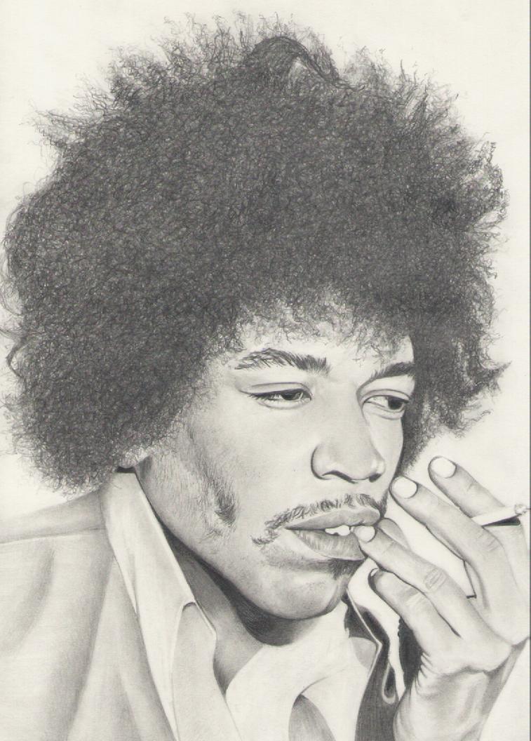 Jimi Hendrix by Djinnduepuntozero