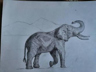 Sand elephant by CrazyCrazyCrazyAzy