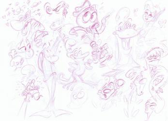 Themrocky Doodlies by MichaelJRuocco