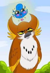 A Coupla Owls by MichaelJRuocco