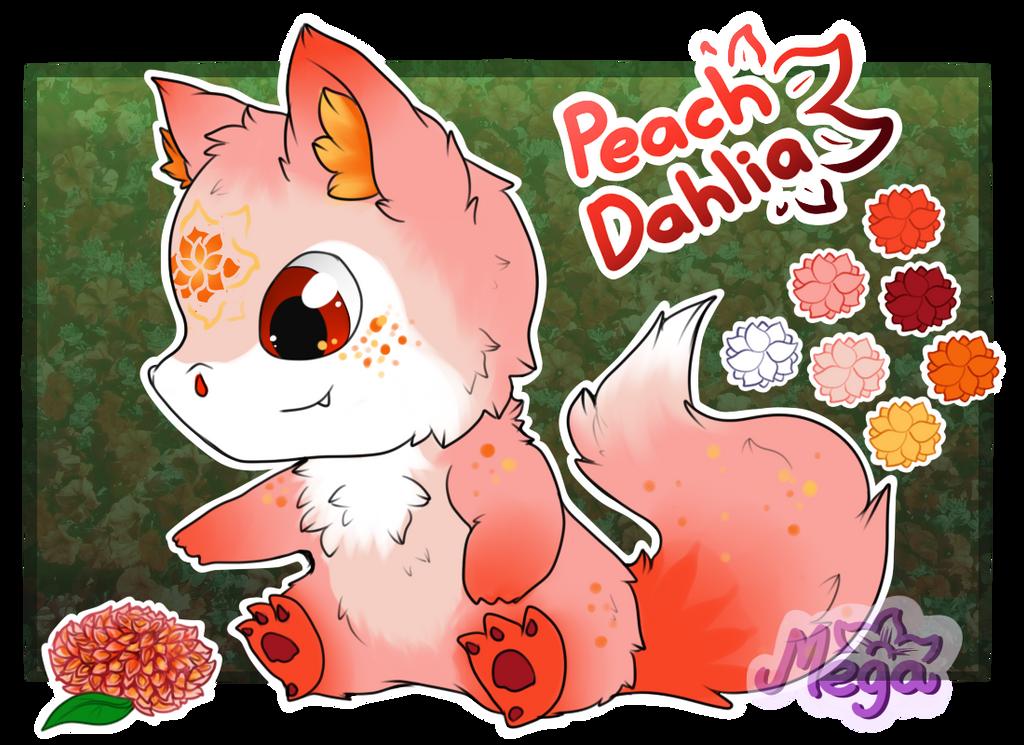 [CLOSED] Minchi:. Raffle! - Peach Dahlia by Mega-Arts