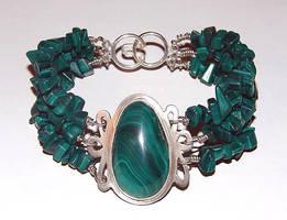 Malachite Bracelet by Artsee1