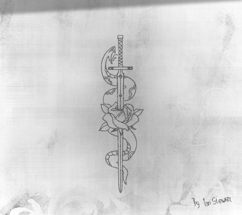 Snake and rose tattoo design by hercool on deviantart for Sword tattoos tumblr
