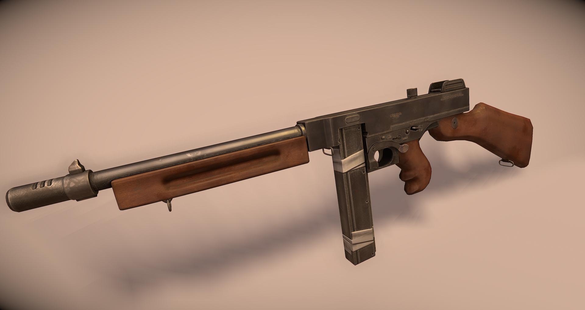 m1a1 sub machine gun