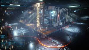 Sci-fi Laboratory: Security Camera View