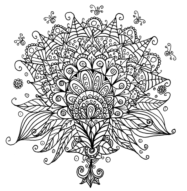 half flower coloring pages - photo #38