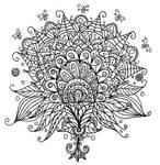 Flower Bud Line Art Doodle