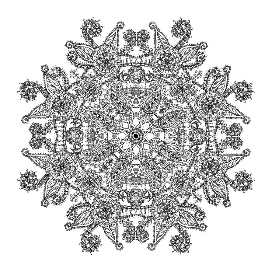 Paisley Mandala #2 by WelshPixie