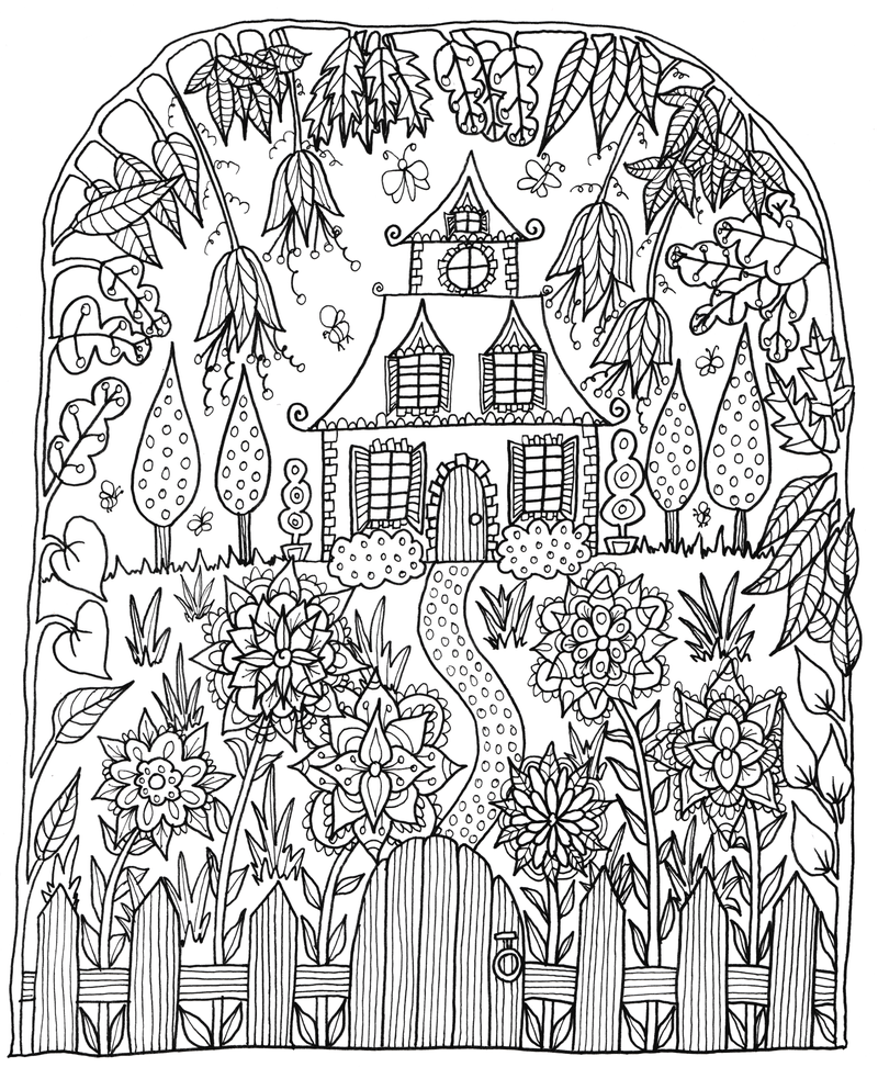 Little house by welshpixie on deviantart for Little house coloring pages