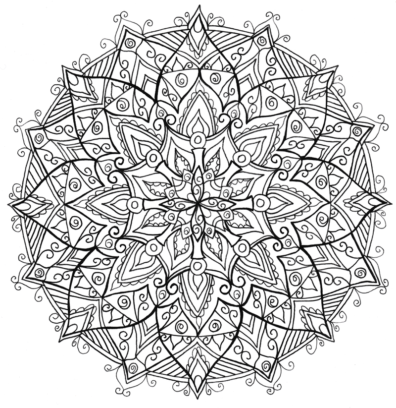 Mandala by welshpixie on deviantart Colouring books for adults big w