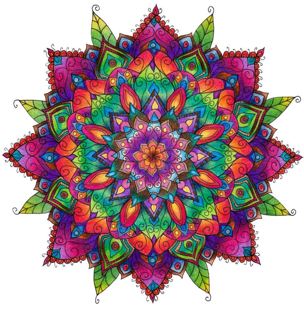 Finished Mandala Colouring By WelshPixie On DeviantArt