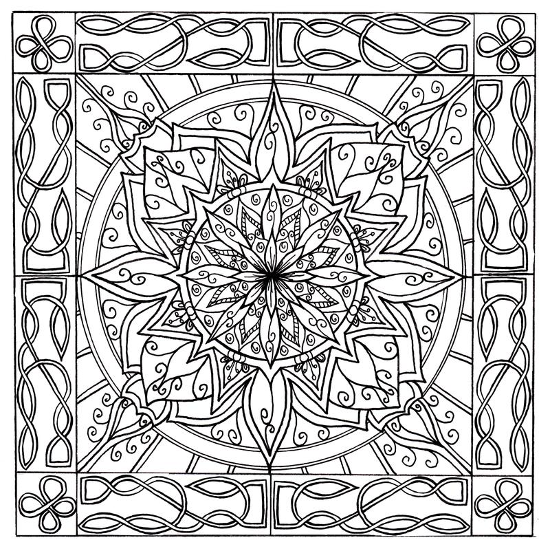 Celtic Knotwork Border Mandala By WelshPixie On DeviantArt