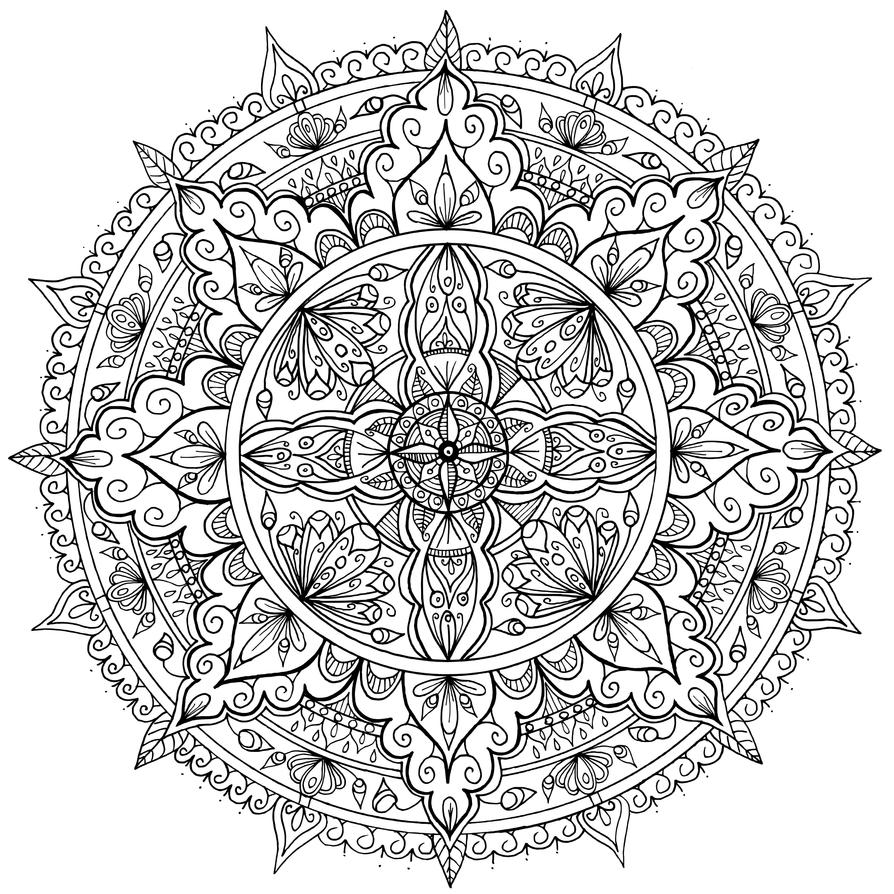 mandala art coloring pages - photo#30